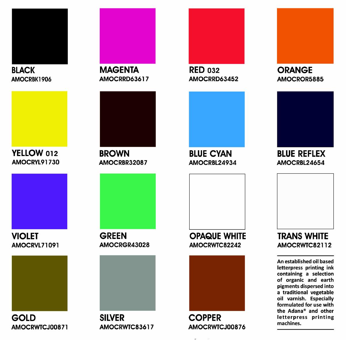 buchdruckfarbe auf lbasis in tuben adana metallic. Black Bedroom Furniture Sets. Home Design Ideas