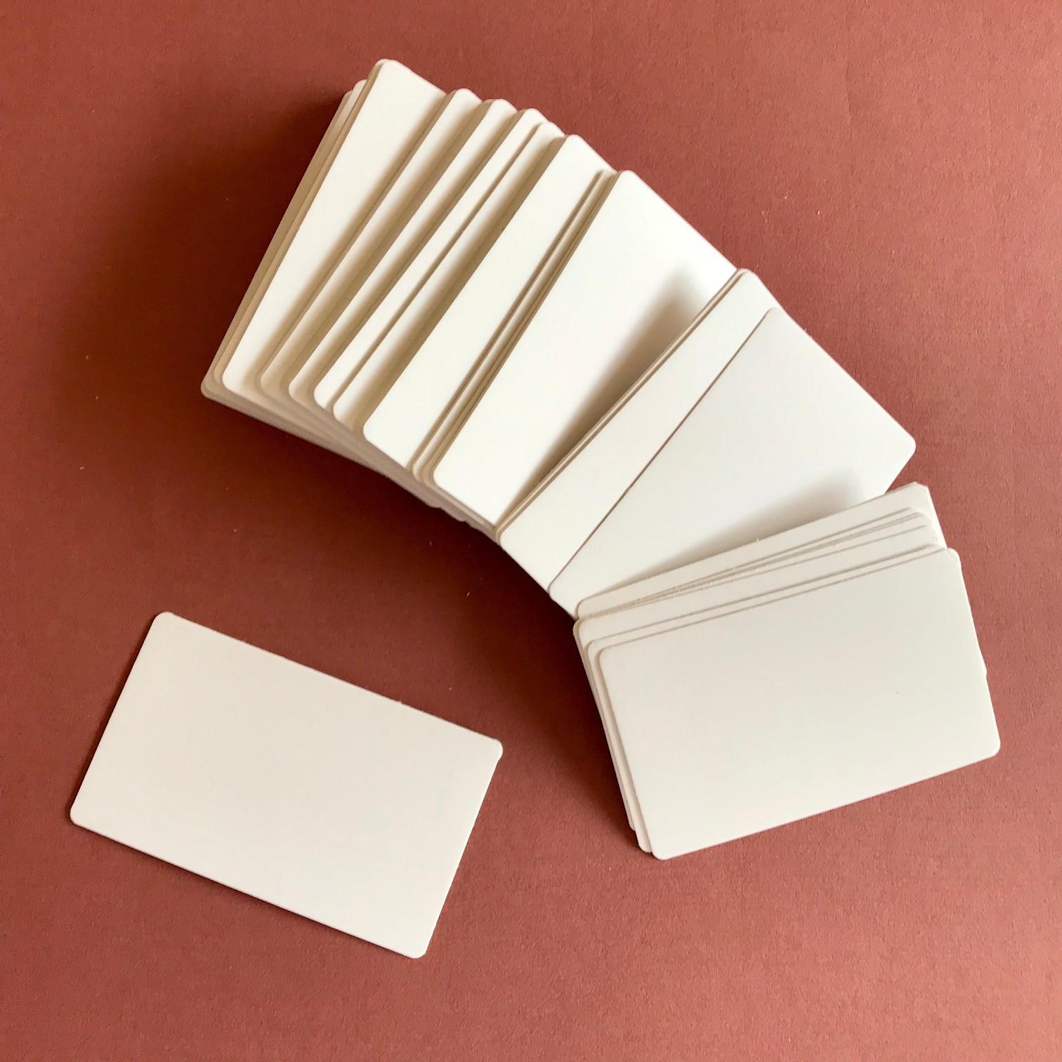Blanko Visitenkarten Weiß Abgerundete Ecken 100 St